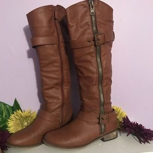 BRECKELLES Brown Tall Boots